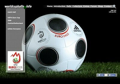 The official ball of the 2008 UEFA Euro Cup: ADIDAS EUROPASS