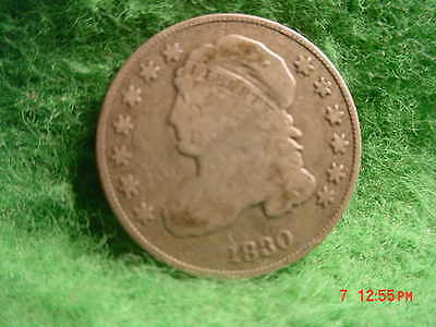 *1830  Capped Bust  Dime, Large 10 C,   Very Good      Silver