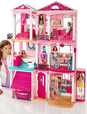 Barbie Dreamhouse Play Set Fully Furnished 70+ Accessories 4ft x 3ft New