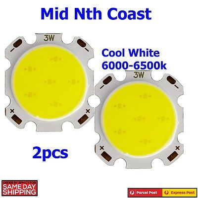 2 x 3W SMD COB LED Chip With Star PCB High Power Cool White 6000-6500K