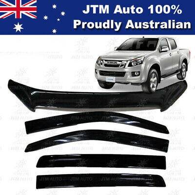 ISUZU D-Max DMAX Bonnet Protector Guard and Weather Shields Visor 2012-2016