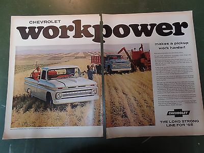 1965 Chevrolet Pickup Truck Vintage Advertisement Magazine Ad