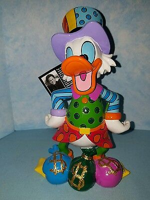 """Disney Britto from Enesco Uncle Scrooge with money bags  Figurine 8"""" New 4033894"""