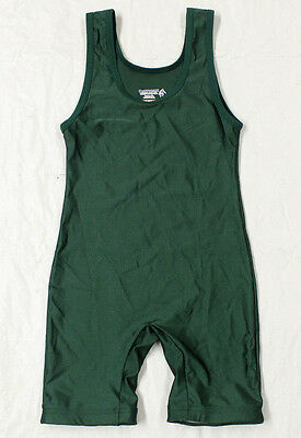 #3903 Matman Green Wrestling Singlet Mens Adult Xs