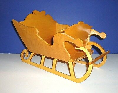 """Antique Snow SLEIGH SLED WINTER/CHRISTMAS Rustic DECOR Handcrafted Wood 13""""x 8.5"""