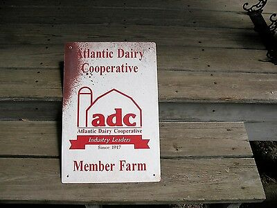 Atlantic Dairy Cooperative Member Farm Painted Aluminum Metal Advertising Sign
