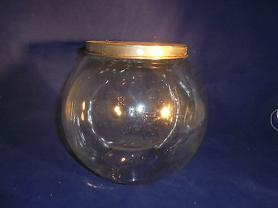Antique vintage apothecary store jar with lid candy counter