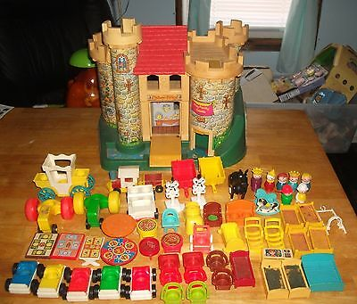 Vintage Fisher Price Little People Castle & Lots Of Extras Very Nice
