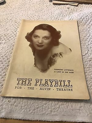 Lady in the Dark W Gertrude Lawrence Playbill 3/5/1942