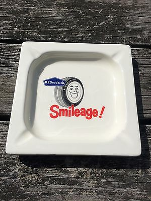 "Vintage B. F. Goodrich Tire ""Smileage"" Ashtray Collectible / Garage / Man Cave"