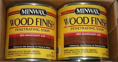4 Pack- Minwax 22250 Penetrating Stain in Red Mahogany (1/2 Pt Each)