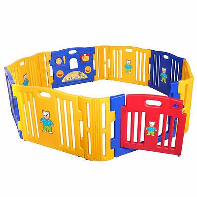 Baby Playpen Kids Panel Safe And Non-Toxic Play Center Yard Home Indoor Outdoor