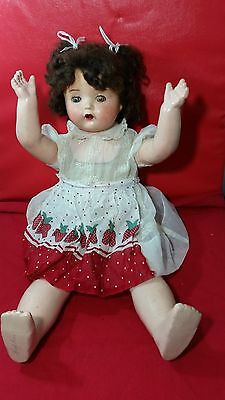 """Antique Vintage EFFANBEE doll composition doll 27"""" tall"""