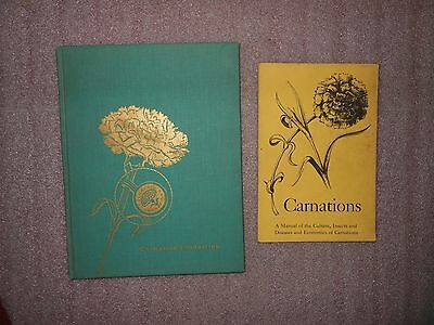 1960's Vintage Carnation Growing Culture Booklets ~ Lot of 2 Books ~ HC & Soft