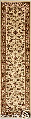 Hallway Runner Hall Runner Rug 300cm Long Mat Persian Traditional Designer Ivory