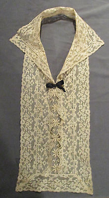 #3 - Vintage/Antique - Ivory/Ecru Lace Collar/Jabot/Dickey