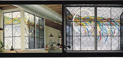 24 Panel Large Architectural Stained Glass Window - Price Reduced Again