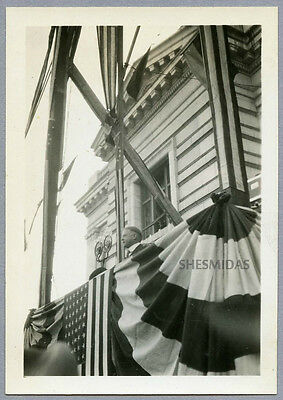 #769 Herbert Hoover Campaigns in Worcester MA, Sept 1928, Vintage Photo