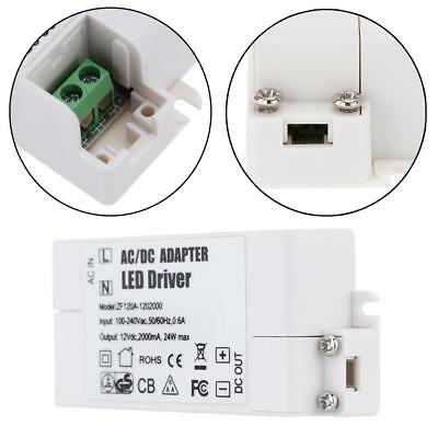 AC 100-240V to DC 12V LED Driver Convertor 24W Light Adapter Power Supply