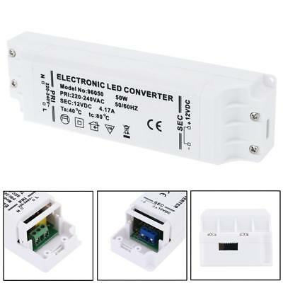 LED Driver 50W Waterproof Power Supply Transformer AC 220-240V to DC 12V
