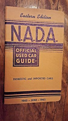 Vintage NADA car price guide book 1965 Chevrolet Ford Dodge Plymouth GM Pontiac