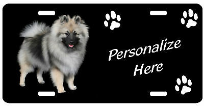 Keeshond   Personalized Automobile Pet License Plate