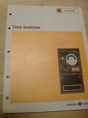 Vintage GE Brochure  (1975):  Time Switches