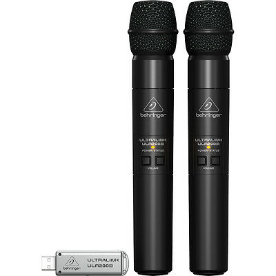 Behringer Ultralink ULM202-USB 2.4 GHz Dual Handheld Wireless Microphone System