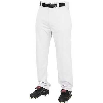 Baseball Pants - Rawlings Semi-Relaxed- YOUTH- Open bottom- Grey (REDUCED PRICE)