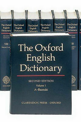 The Oxford English Dictionary: 20 Volumes 2nd edition