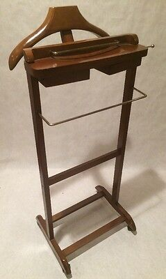 Excellent Condition Wooden Valet Butler Suit Rack Clothes Stand