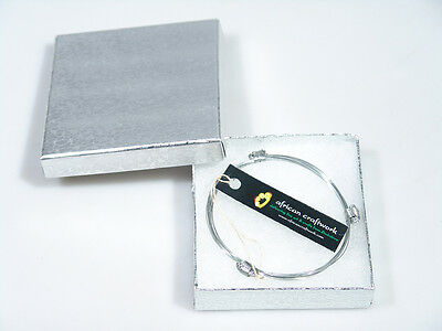African Elephant Hair Bracelet - 3 Knot Stainless Steel from Zimbabwe!