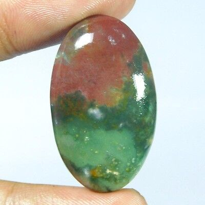 38.65Cts 100%NATURAL UNTREATED BLOOD STONE OVAL 35X22 LOOSE GEMSTONE PJ285
