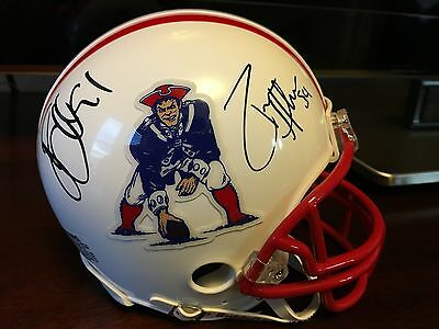Jamie Collins & Dont'a Hightower Autographed Patriots Mini Helmet Brady, Gronk