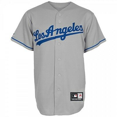 Maillot de Baseball MLB Retro Los Angels Dodgers Gris Majestic replica taille -