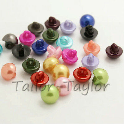 100pcs Round Mushroom Shape Resin Buttons Sewing Craft DIY Accessories 10mm
