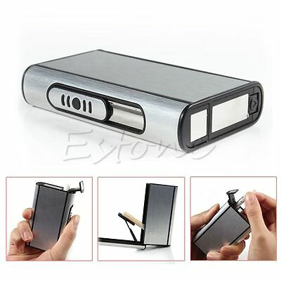 Metal Box Aluminum Pocket Cigarette Case Automatic Ejection Holder