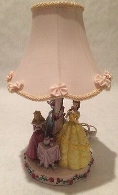 Disney Princess Tea Time Table Desk Lamp Belle Cinderella Aurora Needs Repair