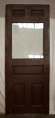 2 avail 32x81 Antique Victorian Wood Exterior Entry Door Wavy Glass Lite Window