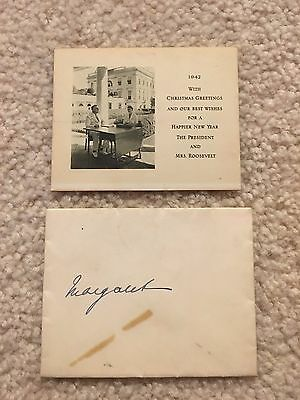**UNIQUE* 1942 Official White House Christmas Card -President Franklin Roosevelt