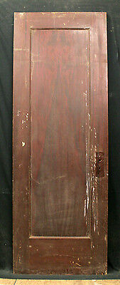 "28""x79"" Antique Interior Door Mahogany Chestnut Solid Wood Wooden Single Panel"