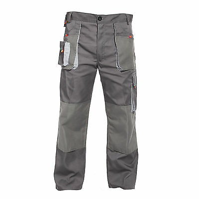 Heavy Duty Mens Multi Pocket Combat Cargo Work Trousers with Knee Pad Pockets