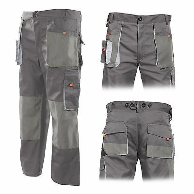 Work Trousers Mens Cargo Combat Style Heavy Duty Pants Overalls Knee Pad Pockets