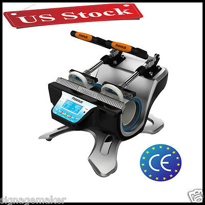 US Stock 110V High Quality Mini Automatic Double Station Mug Heat Press Machine