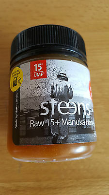 Steens  Raw 15+  UMF Cold Pressed - Manuka Honey 340g Jar