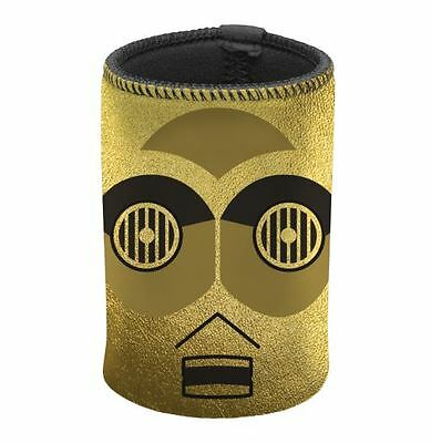 Star Wars Can Cooler Stubby Holder Metalic Gold Official Merchandise