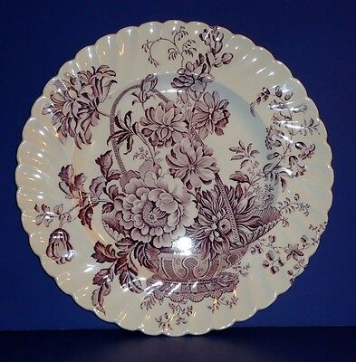 """Clarice Cliff - Staffordshire ~ Charlotte ~ Mulberry Purple 10"""" Dinner Plate"""