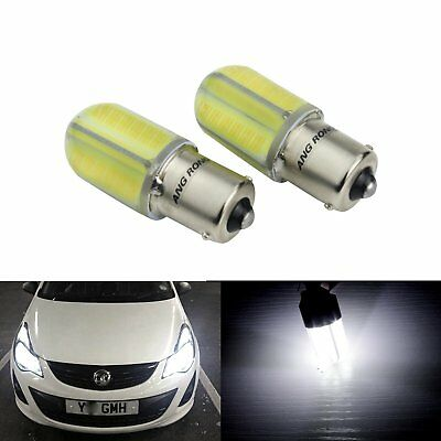 2X COB LED White BA15S P21W 1156 382 Daytime Running Light Indicator Bulbs DRL