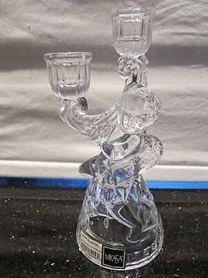 Vintage Mikasa Cherub Angel Candelabra Candle Holder Holds Two Taper Candles