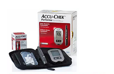 Accu-Chek Performa Blood Glucose Meter+ Gift 10 free tests + 10 lancets Softclix